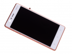 20NE1RW0003 - Front cover with touch screen and LCD display Nokia 3/ Nokia 3 Dual SIM - copper (original)