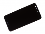 ACQ89404801, ACQ89576601, ACQ89601401 - Front cover with touch screen and LCD LG M250 K10 (2017) - black (original)