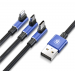 CAMLT-WZ03 - Cable USB Baseus MVP 3w1 (iPhone/Type C/Micro USB) 120cm 3.5A navy blue