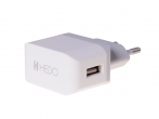 Charger adapter USB HEDO 2.1A - white (original)