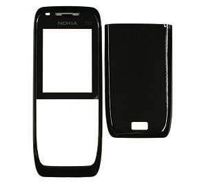 0250268, 9500490 - Cover (2in1) Nokia E51 - black steel (original)