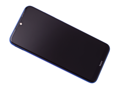 5600030C3X00 - Front cover with touch screen and LCD display Xiaomi Redmi Note 8T - blue (original)