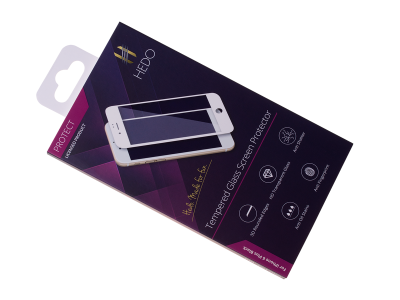 H-SP4DBB02 - Screen Glass Protector HEDO 5D iPhone 6 Plus - black