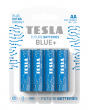 Zinc-carbon batteries TESLA AA/R6/1,5V 4pcs BLUE+